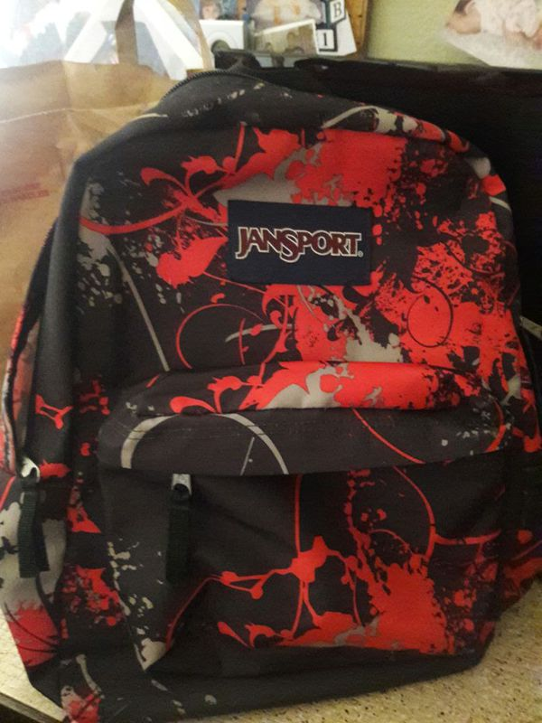 Jansport Black & Red Student Backpack (design) paintball perfect ...