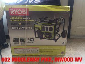 NIB Ryobi 3600 Watt Portable Generator