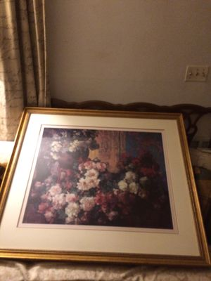 Ethan Alan beautiful flower art design and frame. Negotiable