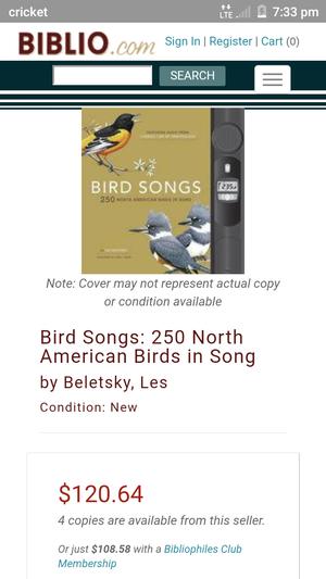 Bird songs over 250 North American birds