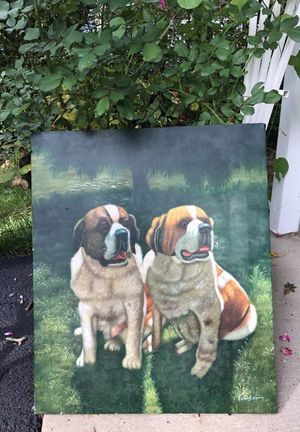 Original oil painting of Dogs