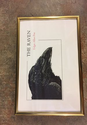 The Raven small framed print
