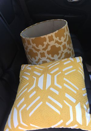 New and used lamp shades for sale in dublin oh offerup decorative pillow and lamp shade mozeypictures Images