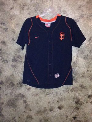 San Francisco giants junior fitted button up shirt