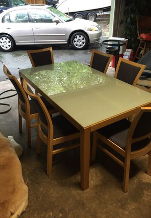 Ikea glass top dining table set