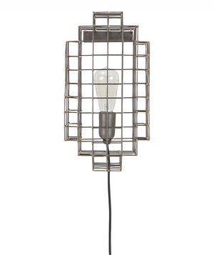 Pair of CB2 Cage Wall Sconces
