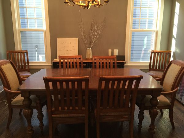 bernhardt dining room table and 8 chairs furniture in elmhurst il