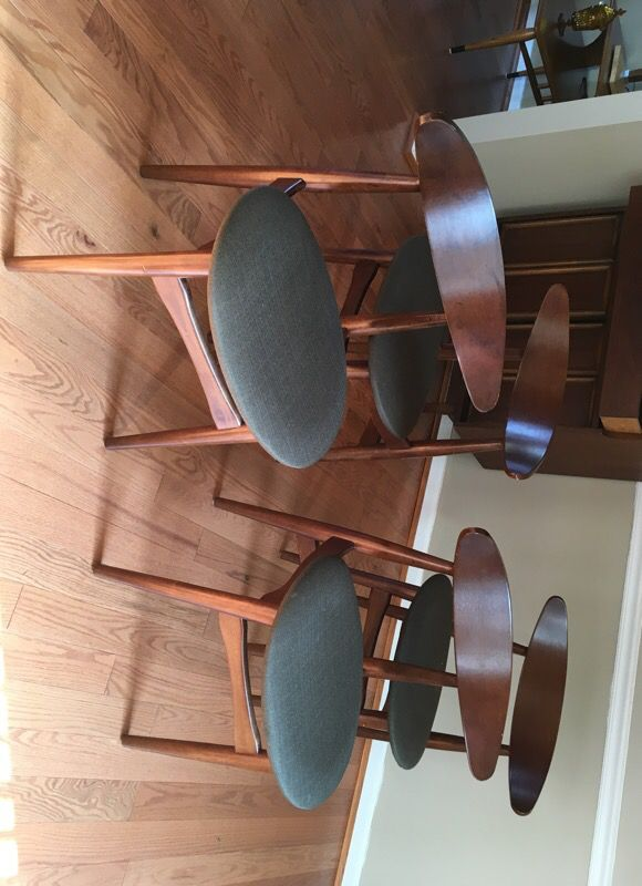 Four mid century style kitchen chairs