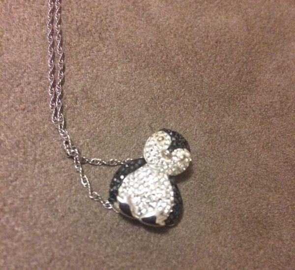 Artistique crystal sterling silver penguin pendant necklace made artistique crystal sterling silver penguin pendant necklace made with swarovski crystals mozeypictures Images