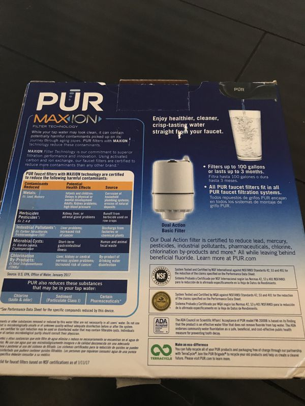 PUR faucet water filtration unit (Household) in Menifee, CA