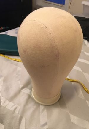 Canvas wig head 22 inch circumference