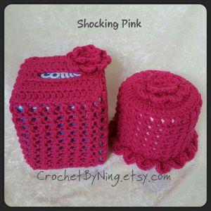 Crochet Tissue box & Toilet paper cover