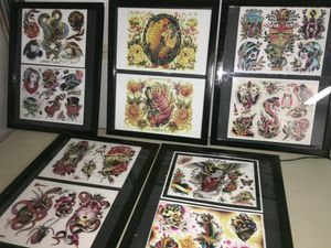 Tattoo prints and tracing light