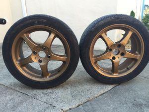"Pair (2) of 17"" inch bronze Konig wheels rims rim wheel tire tires"