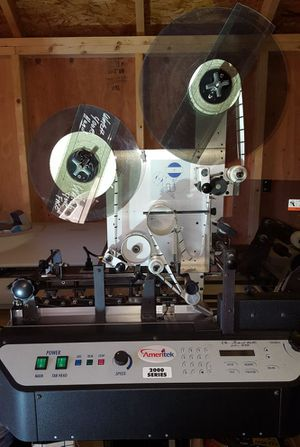 Ameritek T-2000 model Mail labeling/tabbing machine