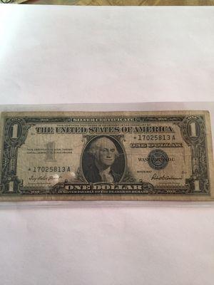 "Series 1957 ""Star"" $1 silver certificate"