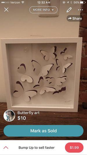 Butterfly art from IKEA originally 25 dollars