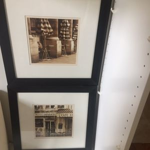 Two gorgeous Paris bistro picture frames