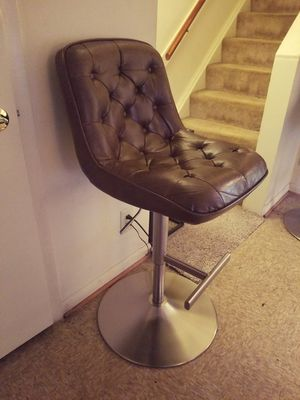 Modern brown leather chairs
