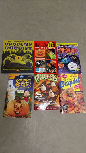 Halloween cook books (6 total)