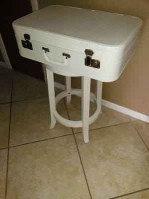 Vintage luggage end table or vanity
