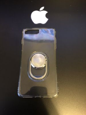 Apple iPhone 7plus/8Plus clear protective case with kickstand & magnetic holder