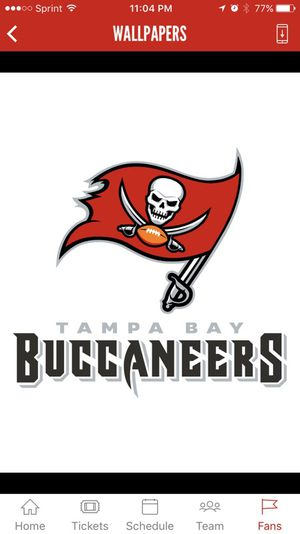 2 Tickets Tampa bay Buccaners game