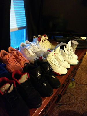 All size 6.5 maroon 6s cherry 13s legend 11s all white Nike air max black and red 5s
