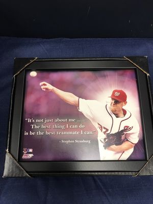 Stephen Strasburg Quote Photo 8x10 w Black Frame can hang or Stand Up