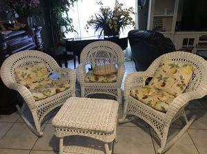 4 Piece wicker patio set!