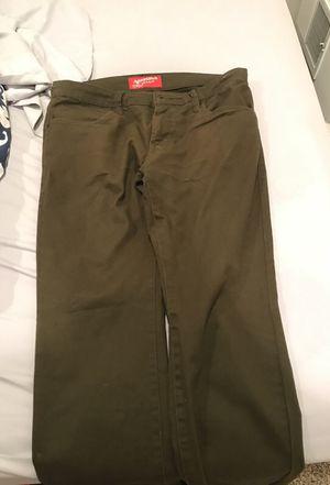 Arizona jeans company originals olive colored jeans