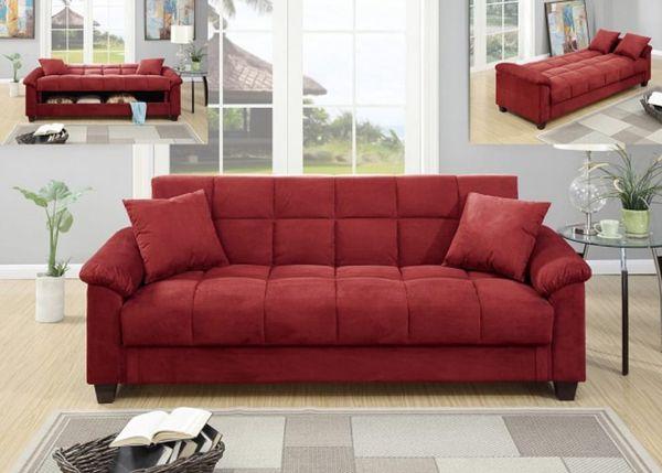 memorial day salered sofa bed - Red Sofa