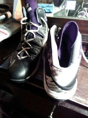 Nike Air basketball shoes black white open box