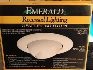 New and used light fixtures for sale in canton oh offerup emerald recessed lighting 75 watt eyeball fixture aloadofball Image collections