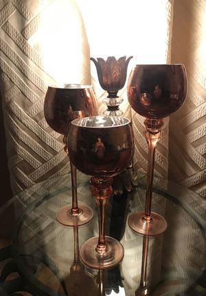 3 candle holders set