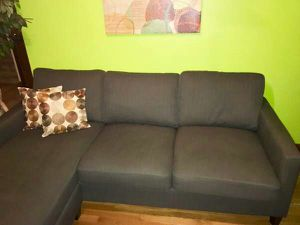 Grey Apartment Size Sectional (Delivery)
