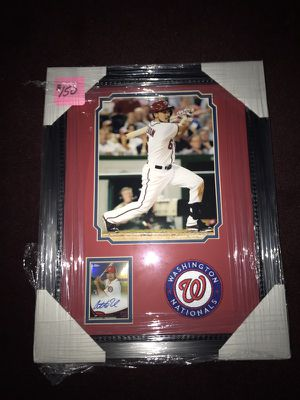 Anthony Rendon Washington Nationals Framed 8x10 Photo with Autographed Card & Embroidered Patch, a great Collectible!