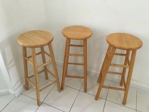 Tall wood chairs
