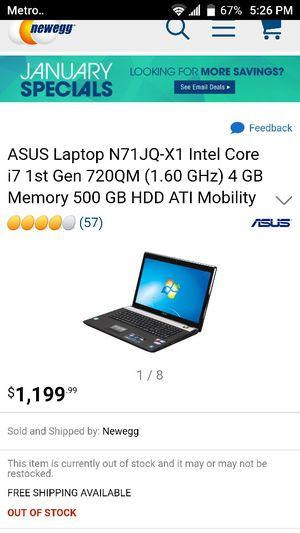 Trading a Asus n71jq gaming laptop