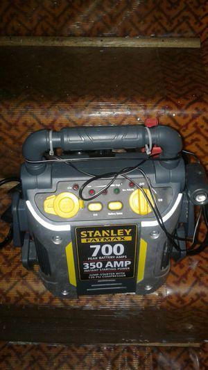 Jump start Stanley aFatmax 700 peak battery amps