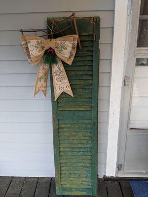 Antique and original rustic green shutter comparison included and decor idea