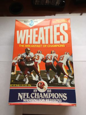Redskins 1988 NFL Champs Wheaties Box