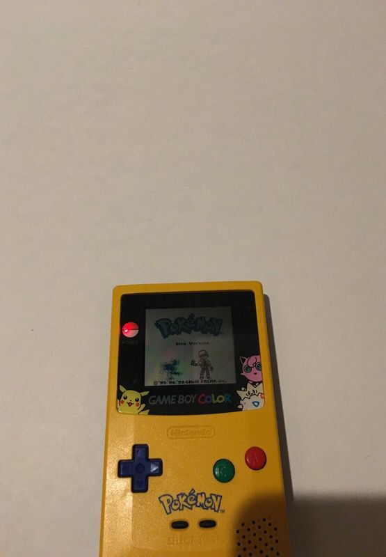 Limited Edition Pikachu Gameboy Color