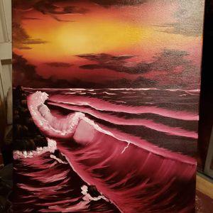 "Crimson sea (Oil on canvas 24"" x36"")"