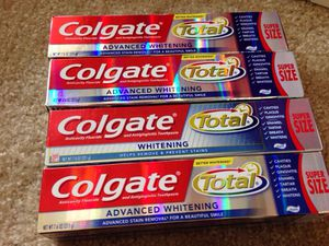 Not available* 4 Tubes Colgatne Super Size. Please See All The Pictures