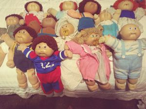 A dozen authentic highly sought-after collectible Cabbage Patch Kids sells for lots of money on eBay