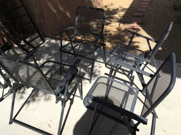 All 4 Metal Patio Chairs Appliances In Las Vegas Nv