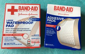 """Seven Boxes of 2 7/8"""" x 4"""" Band-Aid Adhesive Pads"""