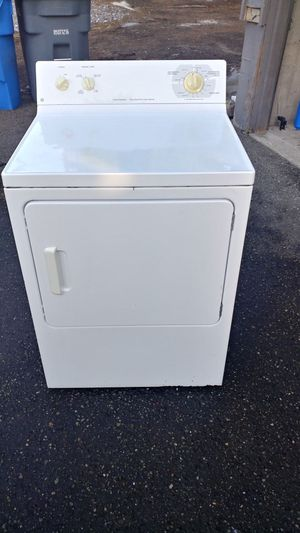 Ge white super capacity electric dryer