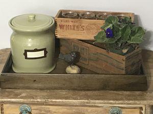 Vintage wooden food boxes